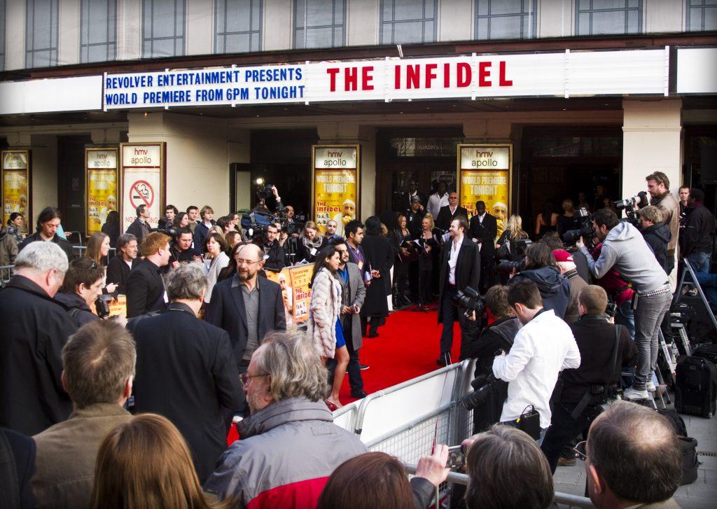 The Infidel premiere at the Hammersmith Apollo.