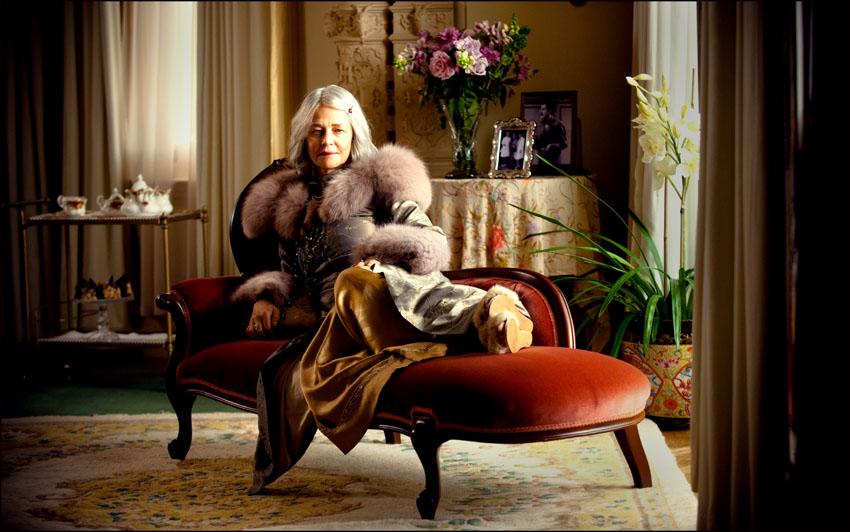 Charlotte Rampling as Elizabeth Hunter, my location studio at Ripponlea, Melbourne.