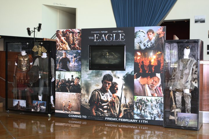 A collection of many of my stills in The Eagle display at the Arclight Cinema in Hollywood