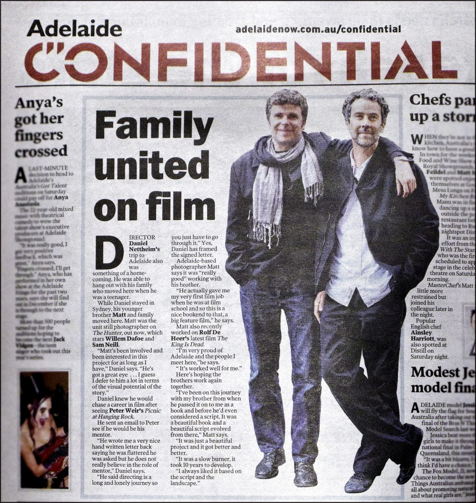 The Nettheim brothers in The Adelaide Advertiser.