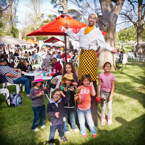 As a giant chef at Cheese Fest, Adelaide.