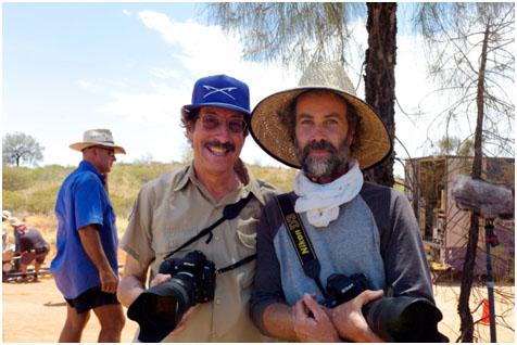 Rick Smolan and myself on the set of Tracks.