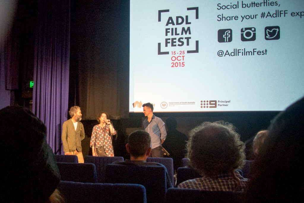 Molly Reynolds and myself take questions at the end of the Another Country premiere in Adelaide.
